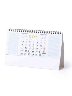 Calendarios publicitarios feber de cartón con impresión vista 2