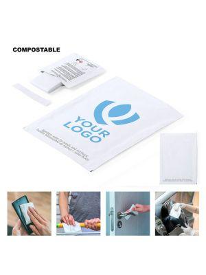 Seguridad covid toallita higienizante masup de compostable con publicidad imagen 1
