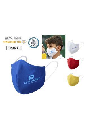 Seguridad covid mascarilla higiénica niño reutilizable galant de poliéster con logo vista 1