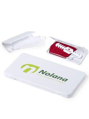 Seguridad covid portamascarillas kloe de plástico con logo imagen 1