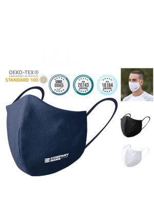 Seguridad covid mascarilla higiénica reutilizable plexcom de poliéster con impresión imagen 6