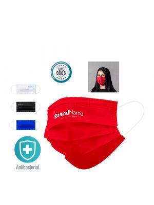 Seguridad covid mascarilla higiénica reutilizable lergax de poliéster para personalizar imagen 4
