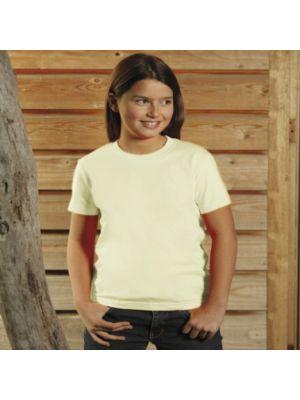 Camisetas manga corta keya yc150w de 100% algodón con impresión imagen 1