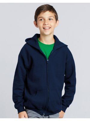 Sudaderas capucha gildan capucha con cremallera entera heavy niño para personalizar vista 1