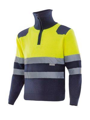 Chaquetas y parkas reflectantes velilla bicolor con cremallera alta visibilidad de acrílico para personalizar vista 1