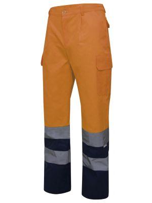 Pantalones reflectantes velilla bicolor multibolsillos alta visibilidad de algodon imagen 1