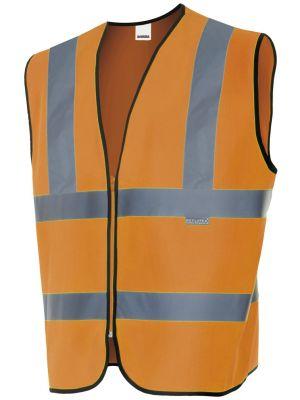 Chalecos reflectantes velilla alta visibilidad en hombros de poliéster vista 1