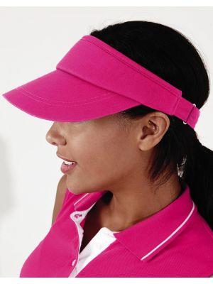 Gorras deportivas beechfield visera sport con logo vista 1