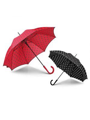 Paraguas clásicos poppins de poliéster con logo vista 2