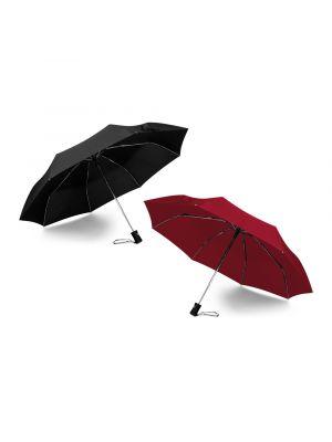 Paraguas clásicos dima de poliéster con publicidad vista 2