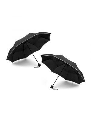 Paraguas clásicos rella de poliéster con logo vista 2