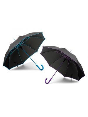 Paraguas clásicos inverzo de poliéster con logo imagen 1