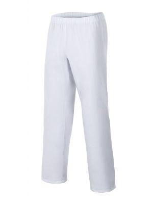 Pantalones sanitarios velilla pijama blanco con cinturilla elástica de algodon imagen 1