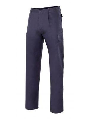 Pantalones de trabajo velilla multibolsillos vel343 de 100% algodón para personalizar vista 1