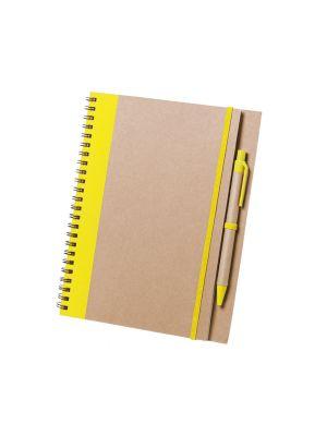 Cuadernos con anillas tunel de cartón ecológico para publicidad vista 2