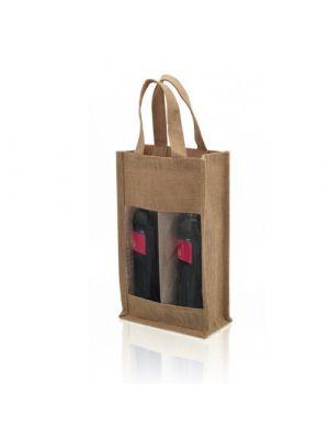 Accesorios vino bolsa koop de yute ecológico imagen 1