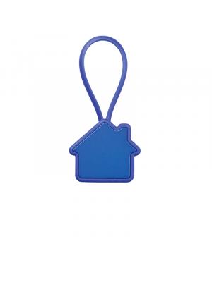 Llaveros forma casa roof de metal con logo imagen 1