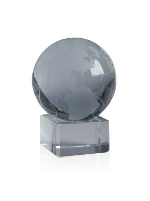 Pisapapeles world de cristal con logo vista 1