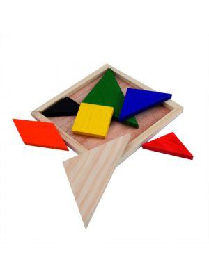 Juguetes y puzzles puzzle tangram de madera vista 1