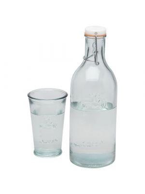 Vasos cocina of water with a glass de vidrio ecológico con logo imagen 1
