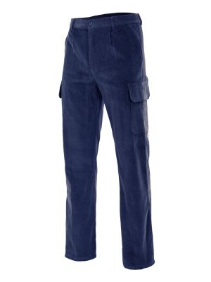 Pantalones de trabajo velilla pana multibolsillos de 100% algodón vista 1