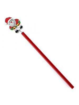 Navidad lápiz lirex de madera con publicidad vista 1