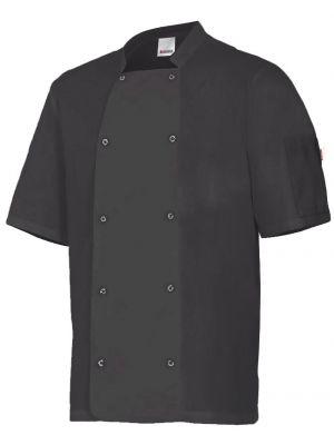 Chaquetas de cocinero velilla de cocina con automaticos manga corta de algodon para personalizar vista 1
