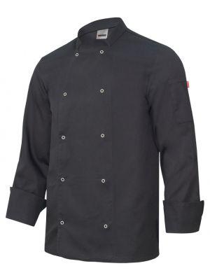 Chaquetas de cocinero velilla de cocina con automaticos manga larga de algodon para personalizar vista 1