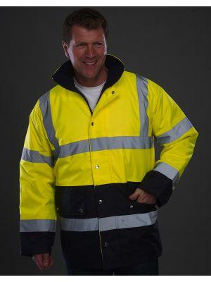 Chaquetas reflectante personalizadas yoko seguridad bicolor fluo con logo vista 2