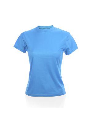Camisetas técnicas tecnic plus mujer de poliéster con publicidad vista 1