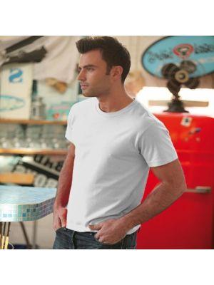 Camisetas manga corta keya mc150w de 100% algodón con publicidad vista 1