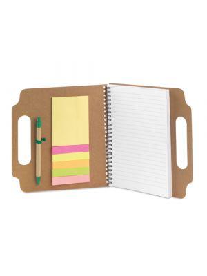 Notas adhesivas makron de cartón ecológico con publicidad imagen 1