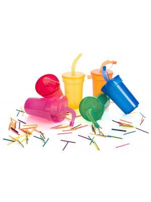 Vasos para llevar fraguen de plástico con publicidad vista 1