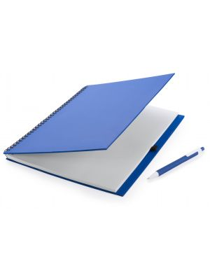 Cuadernos con anillas tecnar de cartón ecológico con logo vista 1