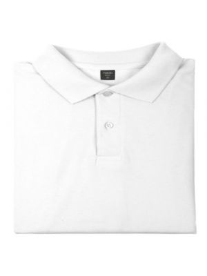 Polos manga corta bartel blanco de 100% algodón con publicidad vista 1