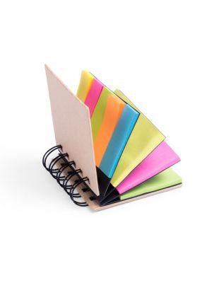 Notas adhesivas laska de cartón ecológico con logo vista 1