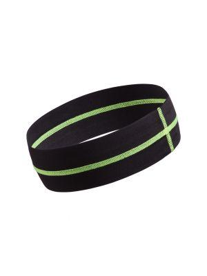 Complementos deportivos cinta cabeza cobik de poliéster con publicidad vista 1