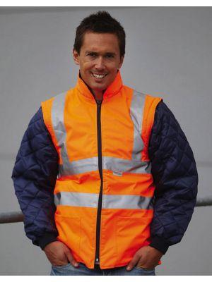 Chaquetas y cazadoras de trabajo yoko chaqueta acolchada con mangas extraíbles fluo imagen 1