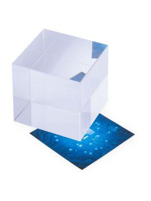Pisapapeles cudor de cristal para personalizar vista 1