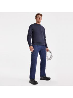 Pantalones de trabajo roly safety de 100% algodón con logo vista 1