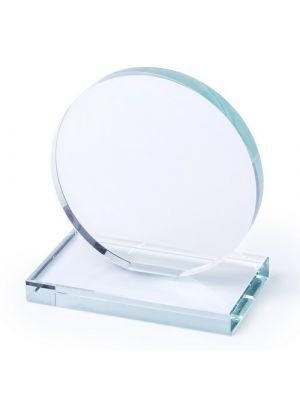 Trofeos y medallas placa owen de cristal con logo vista 1