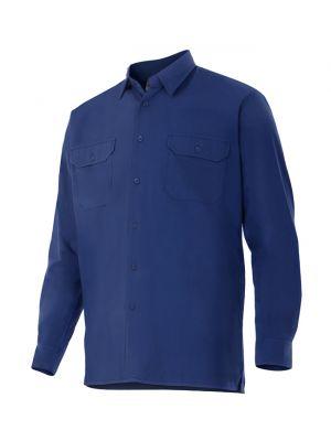Camisas de trabajo velilla manga larga de algodon con impresión vista 1