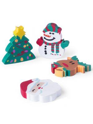 Navidad set gomas flop con publicidad vista 1