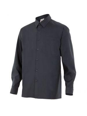 Camisas de trabajo velilla manga larga un bolsillo de algodon vista 1