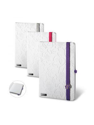 Libretas con banda elastica lanybook innocent passion white con publicidad imagen 2