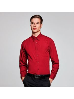 Camisas manga larga roly aifos ls de poliéster con logo vista 1