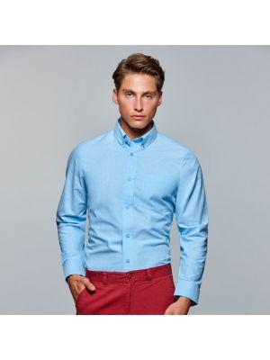 Camisas manga larga roly oxford de algodon con logo imagen 1