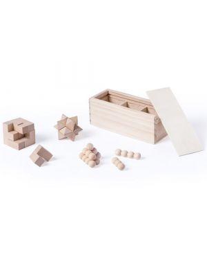 Barajas y juegos de mesa set juegos habilidad genium de madera con publicidad imagen 1