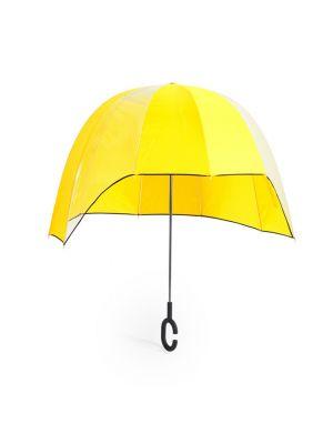 Paraguas clásicos babylon de plástico con publicidad vista 1