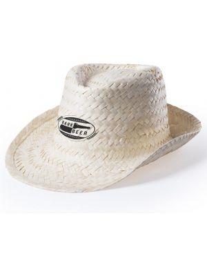 Sombreros helbik de paja con publicidad vista 1